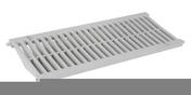 Grille PVC légère pour caniveau NICOLL GRL88 gamme connecto larg.200mm coloris gris clair long.0,5m - Entrevous ép.6cm larg.25cm long.58cm - Gedimat.fr