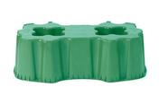 Support de cuve à eau rectangulaire 520 L vert - Kit main courante au mur STEEL 30 long.1,50m - Gedimat.fr