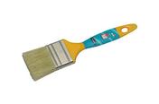 Brosse plate pour peinture acrylique fibres mélangées manche polypropylène larg.50mm n°50 - Outillage du peintre - Outillage - GEDIMAT