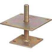 Pied de poteau en I en acier galvanisé bichromaté M20 haut.150mm dim.inf.70x70mm - GEDIMAT - Matériaux de construction - Bricolage - Décoration