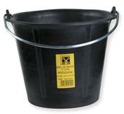Seau de maçon caoutchouc PROCHOCK anse 6,4mm 12L noir - Plâtre manuel traditionnel fin PLAFER 737 sac de 40kg - Gedimat.fr