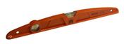 Niveau trapèze en aluminium moulé orange 2 fioles Long.100cm - Bouchon laiton brut femelle à visser réf.300 diam.20x27mm sous coque de 1 pièce - Gedimat.fr