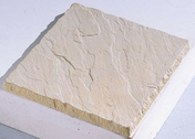 Dalle pierre reconstituée CROISADE aspect pierre structurée ép.3cm dim.45x45cm ton pierre - Bloc béton cellulaire linteaux horizontal U de coffrage ép.40cm larg.25cm long.400cm - Gedimat.fr