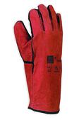 Gant cuir croûte de bovin antichaleur manchette longue taille 10 rouge - Protection des personnes - Vêtements - Outillage - GEDIMAT
