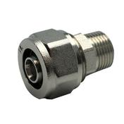 Raccord droit mâle diam.15X21mm pour tuyau multicouche synthétique EASYPEX diam.16mm sous coque de 1 pièce - Fronton pour rives verticales DC12 et DCL coloris noir brillant - Gedimat.fr