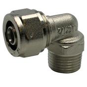 Raccord coudé mâle diam.20X27mm pour tuyau multicouche synthétique EASYPEX diam.20mm sous coque de 1 pièce - Tube multicouche nu eau chaude et froide diam.16mm barre 2,5m - Gedimat.fr