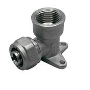 Applique mâle femelle laiton brut pour tuyau multicouche synthétique EASYPEX diam.20mm sortie diam.15x21mm sous coque de 1 pièce - Robinetterie du bâtiment - Plomberie - GEDIMAT