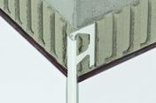 Profilés pour murs Schlüter®-JOLLY-P 125 blanc 2,5m - Décor ANDROS pour mur en faïence brillante ADA ép.9,5mm larg.25cm long.50cm marengo - Gedimat.fr