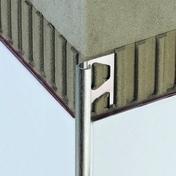 Profilé pour murs Schlüter®-RONDEC 80 ALU. ANODISE MAT 2,5m - Angle sortant carrelage pour sol en grès cérame pleine masse DOTTI larg.3cm long.10cm coloris light beige - Gedimat.fr