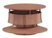 Extracteur statique simple pour ventilation d'assainissement autonome pour tube PVC diam.100mm coloris tuile - Rencontre 4 départs pour faîtage TERREAL coloris Pays d'Oc - Gedimat.fr