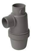 Siphon de lavabo en PVC entrée verticale diam.50mm gris - Plinthe carrelage pour sol GRAVITY larg.6cm long.60cm colois greige - Gedimat.fr