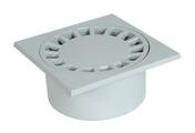 Siphon de cour en PVC 20x20cm sorties mâle 90mm femelle 80mm gris clair - Receveur d'angle à poser ou à encastrer 1/4 de cercle grès ép.7,5cm dim.90x90cm blanc - Gedimat.fr