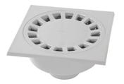 Siphon de cour en PVC 20x20cm sorties mâle 63mm femelle 75mm gris clair - Truelle italienne ronde manche bi matière diam.24cm - Gedimat.fr