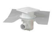 Siphon pour sol à carreler DOCIA Systèmes sortie horizontale diam.50mm grille dim.15x15cm en PVC - Chaînage section 15x15 cm 4HA8 liens espacement 30 à 40 cm long.6m - Gedimat.fr