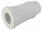 Pipe souple de sortie de cuvette WC NICOLL PVC à mémoire de forme entrée à joint diam.85/107mm sortie mâle diam.100/93mm étirable long.250 à 570mm coloris blanc - Evacuation de WC - Salle de Bains & Sanitaire - GEDIMAT