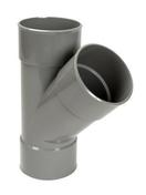 Culotte PVC d'évacuation d'eau usée NICOLL femelle-femelle diam.110mm angle 45° coloris gris - Demi-tuile de finition ARBOISE RECTANGULAIRE coloris vieilli masse - Gedimat.fr