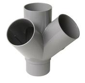 Culotte PVC d'évacuation d'eau usée NICOLL mâle-femelle double équerre diam.100mm angle 45° coloris gris - Tubes et Raccords d'évacuation eau - Plomberie - GEDIMAT
