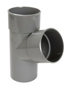 Culotte PVC d'évacuation d'eau usée NICOLL mâle-femelle simple coloris gris UBT16 diam.100mm angle 67° - Bloc-porte gravée BUBBLE huisserie 90mm haut.2,04m larg.93cm droit poussant - Gedimat.fr