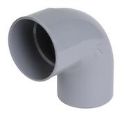 Coude PVC d'évacuation d'eau usée NICOLL mâle-femelle diam.75mm angle 87°30 coloris gris - Carrelage pour sol extérieur en grès cérame émaillé NEOSTONE dim.50x50cm coloris avorio - Gedimat.fr