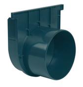 Fond naissance pour caniveau Nicoll Kenadrain HD larg.200mm sortie diam.160mm coloris gris foncé - Caniveaux - Matériaux & Construction - GEDIMAT