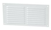 Grille aluminium NICOLL type persienne rectangulaire horizontale avec moustiquaire haut.100mm larg.200mm coloris laqué blanc - Grilles de ventilation - Chauffage & Traitement de l'air - GEDIMAT