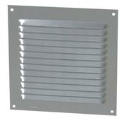 Grille aluminium NICOLL type persienne avec moustiquaire carrée 150x150mm coloris gris - Grilles de ventilation - Chauffage & Traitement de l'air - GEDIMAT