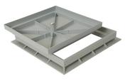 Cadre et coffrage NICOLL pour regard carré dimensions 300x300mm - Couvercle de buse béton diam.int.90cm avec trou de visite - Gedimat.fr
