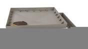 Cadre et coffrage NICOLL pour regard carré dimensions 500x500mm - Tuile de verre H14 HUGUENOT long.44,5cm larg.25cm - Gedimat.fr