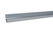 Gouttière PVC demi-ronde LG162 coloris gris long.2m - Fronton de rive équerre pour faîtière cylindrique 40cm TERREAL coloris rouge - Gedimat.fr