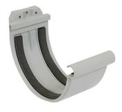 Jonction à joint pour gouttière PVC de 33 NICOLL JN33 coloris gris - Faîtière/Arêtier pureau variable à emboîtement coloris brun - Gedimat.fr