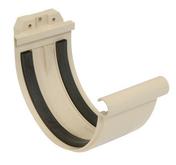Jonction à joint pour gouttière PVC de 33 NICOLL JN33S coloris sable - Manchon cuivre à souder femelle femelle égal diam.40mm en vrac 1 pièce - Gedimat.fr