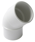 Coude PVC d'évacuation d'eau usée NICOLL mâle-femelle diam.50mm angle 45° coloris blanc - Demi rond Pin des Landes sans nœud rayon 25mm long.2m - Gedimat.fr