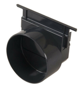 Fond/naissance pour caniveau PVC NICOLL NAT178 gamme Connecto larg.130mm sortie diam.100mm - Volet battant PVC ép.24mm blanc 2 vantaux haut.1,75m larg.1,40m - Gedimat.fr