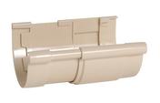 Jonction de dilatation pour gouttière PVC demi-ronde LG25 coloris sable - Fond de gouttière PVC de 25 NICOLL FCG25S coloris sable - Gedimat.fr