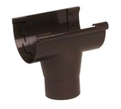 Naissance centrale à coller pour gouttière PVC de 25 NICOLL NAC25M coloris marron - Demi-tuile à rabat droite à emboitement BEAUVOISE coloris terre de Beauce - Gedimat.fr