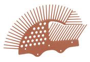 Cache moineaux pour tuile de couverture NICOLL PIAF2 coloris rouge tuile - Accessoires de fixation - Couverture & Bardage - GEDIMAT