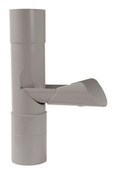 Récupérateur d'eau pluviale PVC diam.100mm coloris gris - Porte d'entrée Aluminium KANSAS avec isolation totale de 120 mm gauche poussant haut.2,00m larg.90cm laqué gris - Gedimat.fr