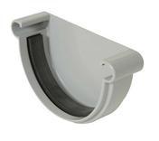 Fond de gouttière PVC à joint de 25 NICOLL FGJ25 coloris gris - Faîtière/Arêtier pureau variable à emboîtement coloris brun - Gedimat.fr