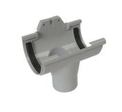 Naissance centrale à joint pour gouttière PVC de 25 NICOLL NC25 coloris gris - Faîtière/Arêtier pureau variable à emboîtement coloris brun - Gedimat.fr