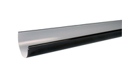 Gouttière PVC demi-ronde LG33 coloris marron long.4m - Fenêtre bois exotique lamellé collé sans aboutage isolation totale 100mm 2 vantaux ouvrant à la française vitrage transparent haut.1,25m larg.80cm - Gedimat.fr