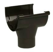 Naissance centrale à coller pour gouttière PVC de 33 NICOLL NAC33M coloris marron - Kit rambarde Balsteel acier noir pour mezzanine assorti à l'escalier ESCAVARIO Acier noir - Gedimat.fr