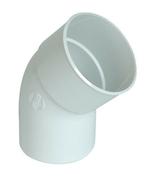 Coude PVC pour tube de descente de gouttière NICOLL diam.100mm angle 45° mâle femelle coloris blanc - Bande de chant ABS ép.1mm larg.23mm long.25m Prunier Karnten - Gedimat.fr