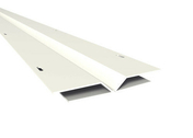 Profilé de finition pliable en H PVC NICOLL BELRIV long.4m coloris blanc - Planches de rives - Sous-faces - Couverture & Bardage - GEDIMAT