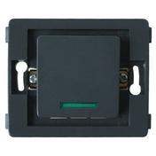 Interrupteur va et vient simple à voyant série VENUS non monté 10A coloris noir - Interrupteurs - Prises - Electricité & Eclairage - GEDIMAT