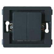 Interrupteur va et vient double série VENUS non monté 10A coloris noir - Interrupteurs - Prises - Electricité & Eclairage - GEDIMAT