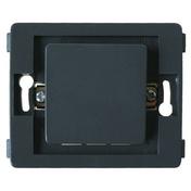 Bouton poussoir simple série VENUS non montée 10A coloris noir - Ecrou laiton brut plat hexagonal à plateau diam.15x21mm 1 pièce - Gedimat.fr