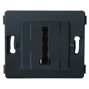 Prise téléphone série VENUS non monté femelle en T coloris noir - Interrupteurs - Prises - Electricité & Eclairage - GEDIMAT