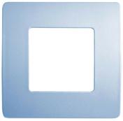 Plaque de finition pour appareillage série VENUS non monté dim.75x75mm coloris bleu pâle - Bloc-porte isolant gravé avec inserts à poser non inclus LABYRINTHE huis.90mm haut.2,04m larg.83cm droit poussant - Gedimat.fr