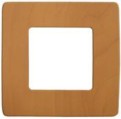 Plaque de finition pour appareillage série VENUS non monté dim.75x75mm coloris merisier - Interrupteurs - Prises - Electricité & Eclairage - GEDIMAT