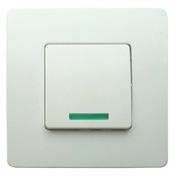 Interrupteur va et vient simple à voyant série VENUS monté 10A coloris blanc - Interrupteurs - Prises - Electricité & Eclairage - GEDIMAT